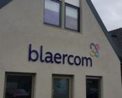 Dorpshuis Blaercom Blaricum nieuwe logo op het pand